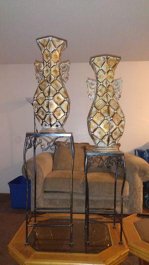 Antique Metal flower vases for Sale in Riverside, CA