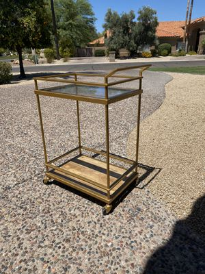 Target Gold Brass Bar cart for Sale in Paradise Valley, AZ
