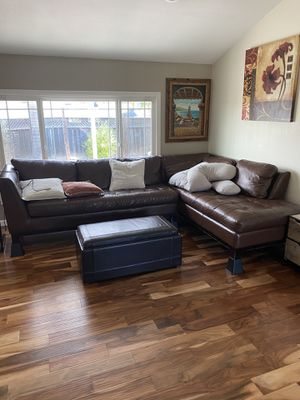 Sectional Couch Real Leather Gorgeous for Sale in Danville, CA