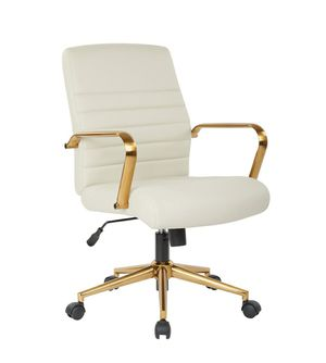 Cream and Gold Office Swivel Chair, High Backrest with Arm Rest for Sale in ROWLAND HGHTS, CA