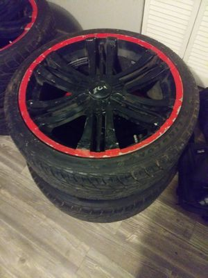 Xoni 22inch rins and tires for Sale in San Antonio, TX