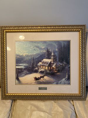 Thomas Kinkade Snow Piece for Sale in Smyrna, DE