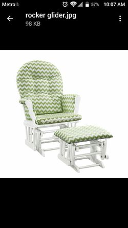 Baby Nursing Rocking Chair Glider With Foot Rest for Sale in Queens,  NY