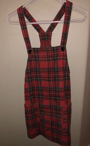 Mink Pink Cute Plaid Overall Dress for Sale in Cave Creek, AZ