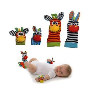 The Season Toys 4pcs Infant Baby Wrist Rattles And Foot Socks Developmental Toys for Sale in Norfolk, VA