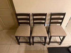 Counter Chairs set of 3 for Sale in Miramar, FL