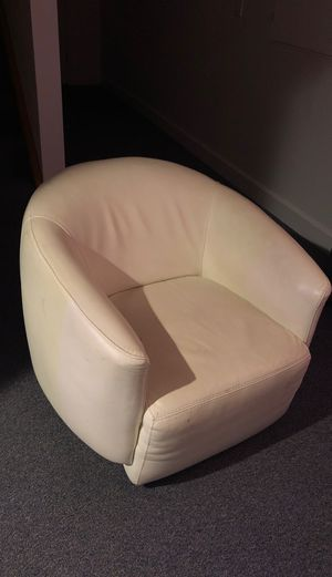 White leather chair for Sale in Denver, CO