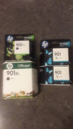 HP 901XL & 901combo   Ink Cartridge   Black/Color Combo   CC654AN for Sale in Smyrna, GA