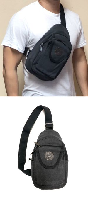 NEW! Canvas Side Bag Cross Body Bag messenger backpack gym bag cell phone tablet holder wallet school bag work bag for Sale in Carson, CA