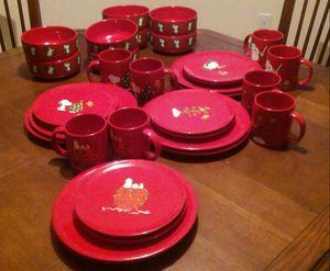 Snoopy Christmas Dinnerware for Sale in Sebring, FL
