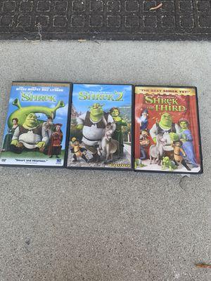 Shrek trilogy dvd set for Sale in Los Angeles, CA