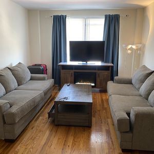 2 sofa very new (soft) and 1sofa can be bed just cash(bed not used) for Sale in Queens, NY