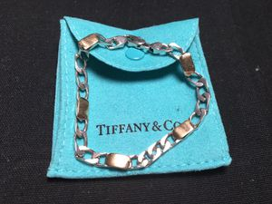 """Tiffany & Co Two Tone 925 Sterling Silver 18k Yellow Gold Curb Link 8"""" Bracelet (Very Rare ya for Sale in Columbia, SC"""