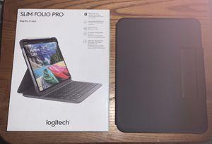 "Logitech Slim Folio Pro Bluetooth Keyboard Case for iPad Pro 11"" for Sale in Cinnaminson, NJ"