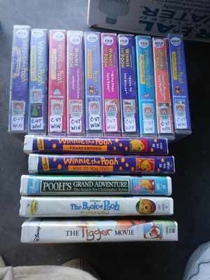 15 Winnie The Pooh Disney Learning Playtime Friendship VHS Movie Collection Lot for Sale in Pahrump, NV