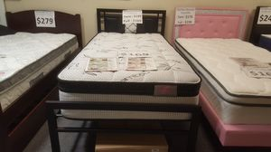 """Brand new 11"""" thick Bamboo pillowtop twin mattress only for Sale in San Diego, CA"""