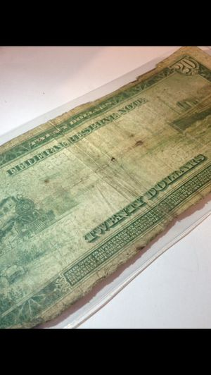 Very Rare 1914 $20 Bill Federal Reserve Note- From New York- Extremely Scarce in any Condition! for Sale in Chantilly, VA