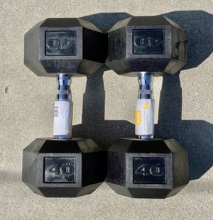 🚨🏋️♀️🏋🏽♂️ Brand New Dumbbell Weight Set 2 x 40lbs dumbbells for Sale in Fontana, CA
