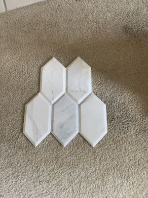 Calacatta marble hexagon for Sale in Mansfield, TX