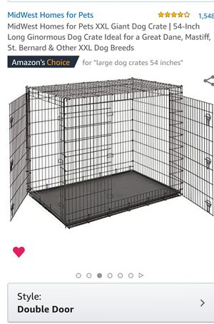 Double sided Iron gate, Large dog crate. Never used for Sale in Lancaster, CA