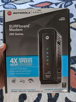 ARRIS SURFboard SB6121 4x4 DOCSIS 3.0 Cable Modem for Sale in West Bloomfield Township,  MI