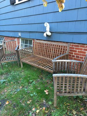 Patio/Garden Bench and Two Chairs for Sale in Washington, DC