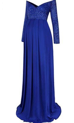 Royal Blue, Off Shoulder Lace Maternity Dress for Sale in Eloise, FL