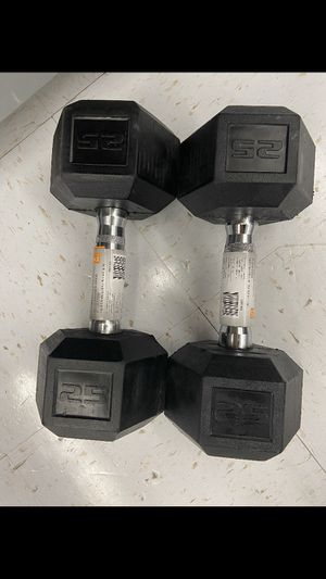 Pair of 25lb Dumbbells for Sale in Northbridge, MA