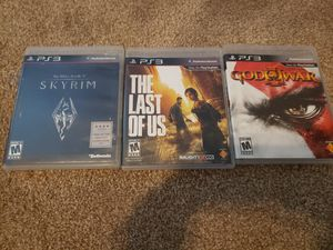 3 PS3 games for Sale in Plant City, FL