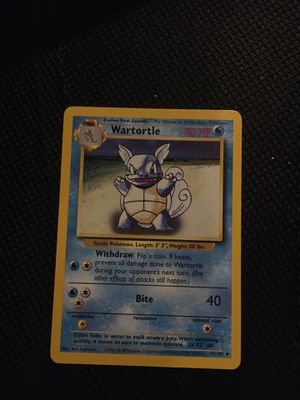 Wartortle for Sale in Pequannock Township, NJ