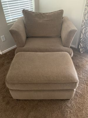 Sofa Chair with Ottoman for Sale in Gilbert, AZ