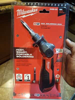 Milwaukee M12 12-Volt Lithium-Ion Cordless Soldering Iron (Tool-Only) for Sale in Phoenix, AZ