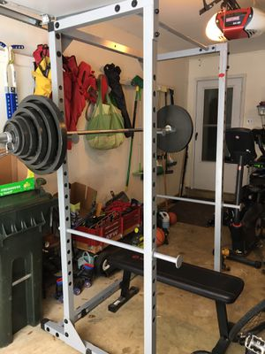 Squat rack and Olympic weight set for Sale in Vienna, VA