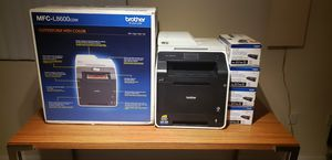 5 Black ink cartridges and Brother MFC-L8600cdw for Sale in Las Vegas, NV