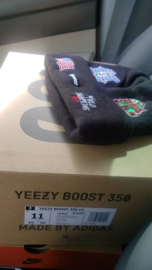 Yeezy earth and supreme championship beanie for Sale in Huntington Park, CA