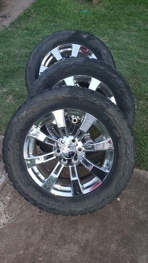 20 inch denali wheels 6 lug 6x139.7 for Sale in Dallas, TX