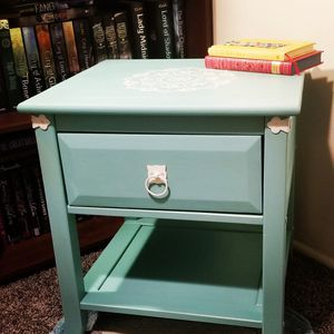 Hand Painted End Table:Seafoam Dream for Sale in Salt Lake City, UT