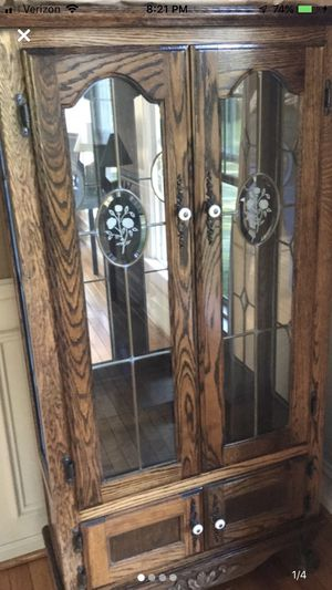 Oak Curio Cabinet for Sale in West Chester, PA