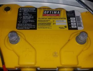 Optima deep cycle battery. Holds full charge no problems. Was only used for light-duty not a motor for Sale in Morton Grove, IL