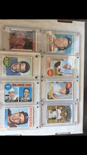 Massive vintage baseball football basketball card collection Mickey Mantle Pete Rose Willie Mays Michael Jordan for Sale in Huntington Beach, CA