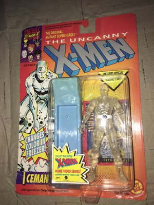Marvel 1992 Toy Biz Uncanny X-Men Iceman Action Figure On Card Sealed for Sale in Rochester Hills, MI