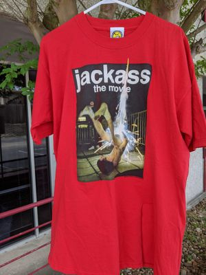 XL. 2002. Jackass. The movie. Official MTV shirt. Perfect crop project. Vintage-inspired for Sale in San Antonio, TX