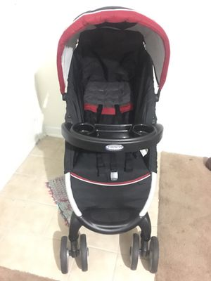 "Graco FastAction Fold Click Connect Travel System -Rear-facing infants from 4-30 lbs and up to 32"" (light weight car seat and stroller) for Sale in Charlotte, NC"