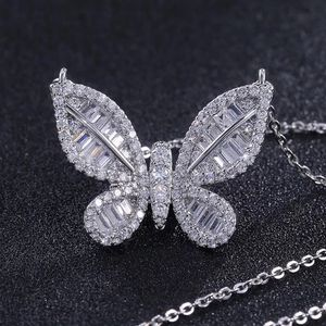 """Bling High Quality lab Created Diamond Butterfly 925 Sterling Silver Necklace 18"""" for Sale in Hermosa Beach, CA"""