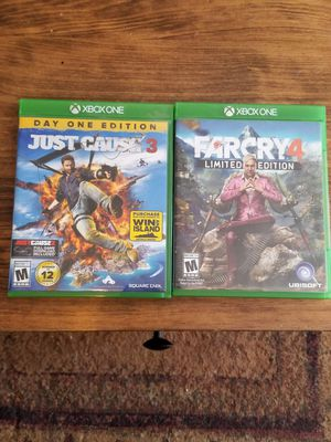 Far Cry 4 & Just Cause 3 Xbox One for Sale in Wrangell, AK