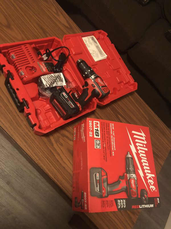 Compact Hammer Drill, Milwaukee 18M Brand New