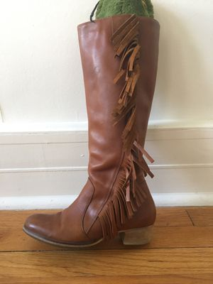 US 7 / EUR 37 Leather Riding Boots with Fringe for Sale in Denver, CO