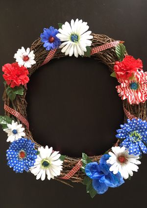 Patriotic Wreath for Sale in Tennerton, WV