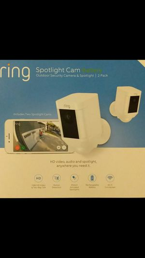 New 2-Pack Ring Spotlight Cam Battery Security Camera 1080HD 2-Pack for Sale in Orange, CA