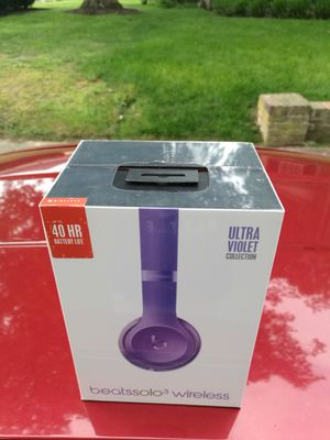 Violet - Beats by Dre Solo 3.0 Wireless Bluetooth headset Headphone Earphones NEW sealed in box for Sale in Richmond, VA